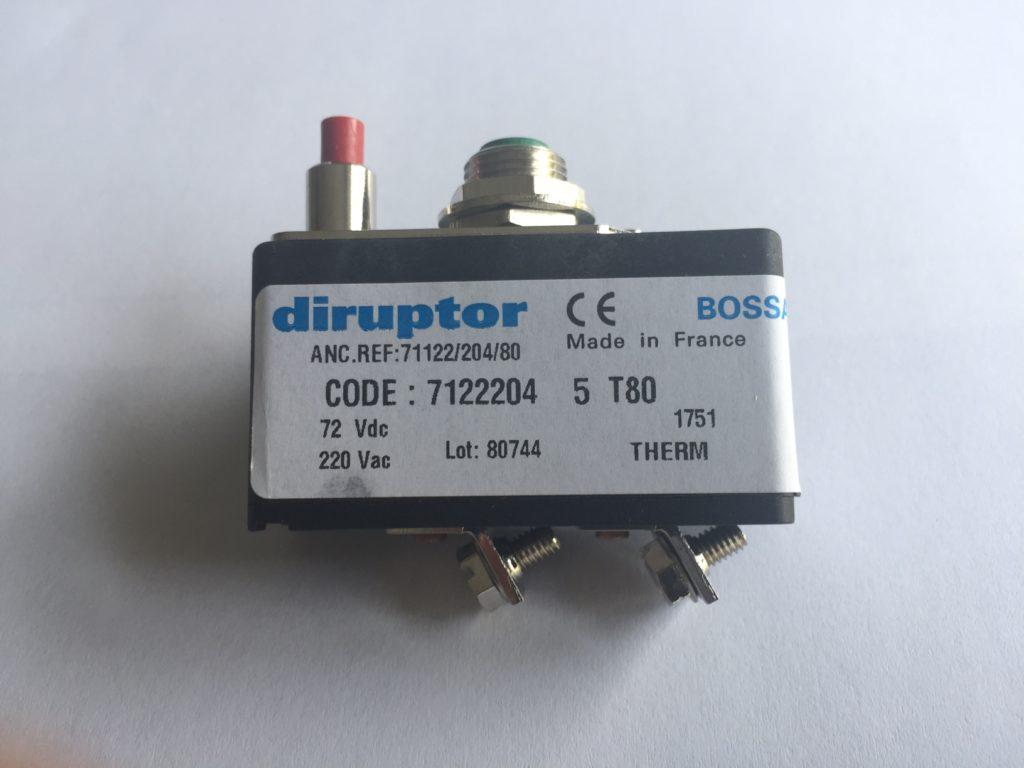 Disjoncteur- DIRUPTOR-reference-7122204-5-T80